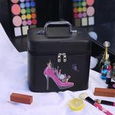 化妝包大容量便攜收納包簡約品韓版可愛小號少女心手提化妝箱專業 FR11886『男人範』
