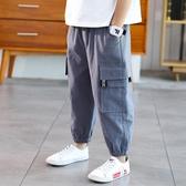 男童防蚊褲子男孩中大兒童夏裝新款工裝長褲薄款夏季帥氣冰絲 快速出貨