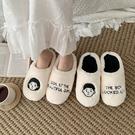 棉拖鞋女秋冬兒童可愛居家室內保暖月子鞋情侶毛毛絨鞋男