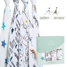 Aden+Anais 輕鬆抱寶寶包巾(四入裝) 童趣塗鴉款 2068[衛立兒生活館]