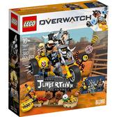 樂高積木 LEGO《 LT75977 》Overwatch 鬥陣特攻系列 - Junkrat& Roadhog╭★ JOYBUS玩具百貨