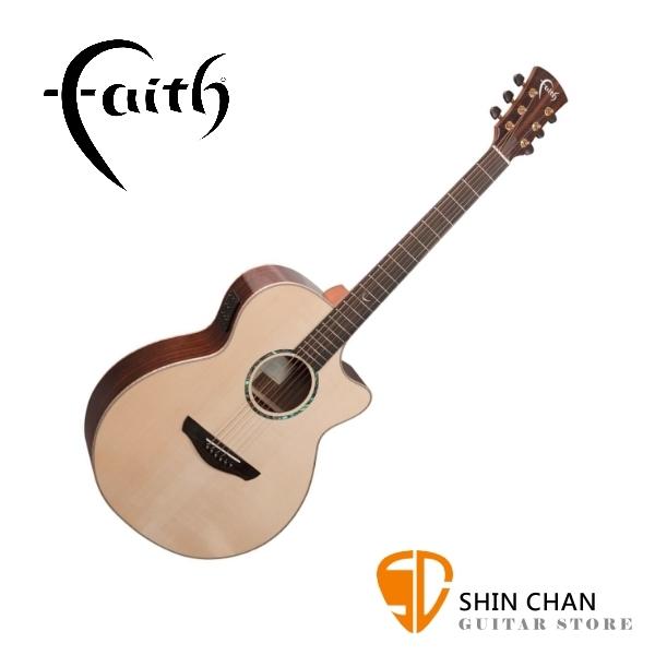 Faith 英國名牌 FVHG PERC 41吋 全單板 可插電 民謠吉他 雙拾音器系統 贈原廠吉他硬盒【型號:FVHG-PERC】