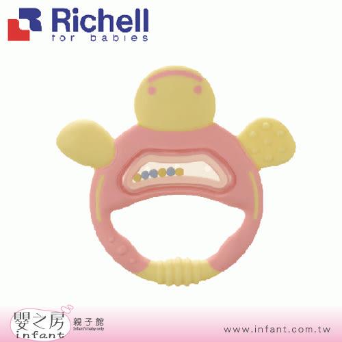 【嬰之房】Richell利其爾 粉紅色手指型狀固齒器(盒裝)