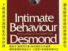 二手書博民逛書店Intimate罕見BehaviourY255562 Desmond Morris Random House