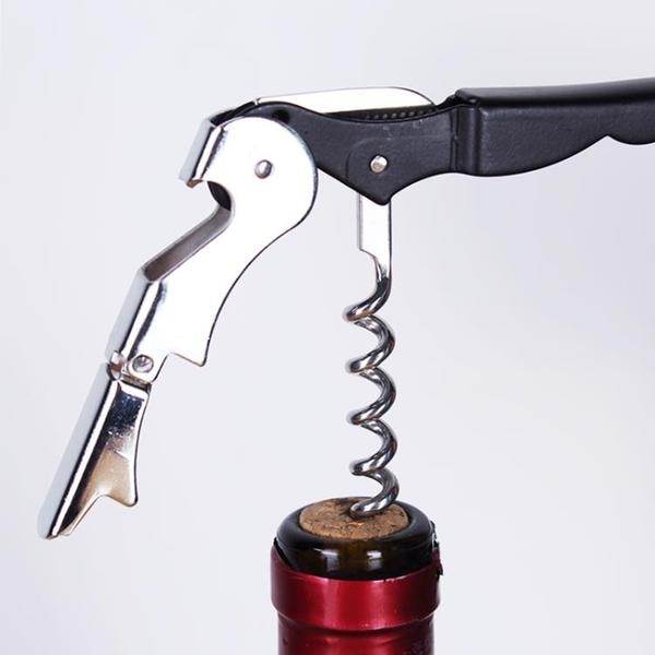 不銹鋼紅酒葡萄酒來開瓶器多功能便攜海馬刀酒刀啟瓶器啤酒起子