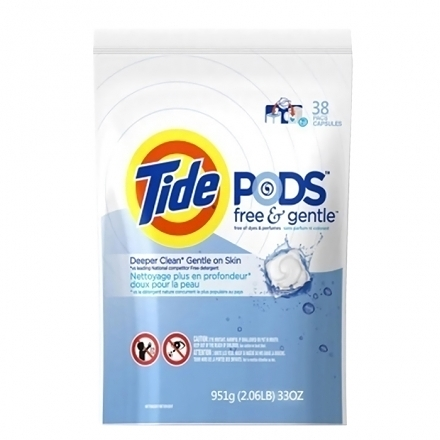 Tide 汰漬 三合一洗衣凝膠球/洗衣球 無香料 38顆/包◆德瑞健康家◆