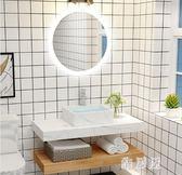 浴室櫃簡約大理石浴室樻組合衛生間洗漱臺洗手盆洗臉池衛浴廁所面盆吊樻 LN2561 【雅居屋】