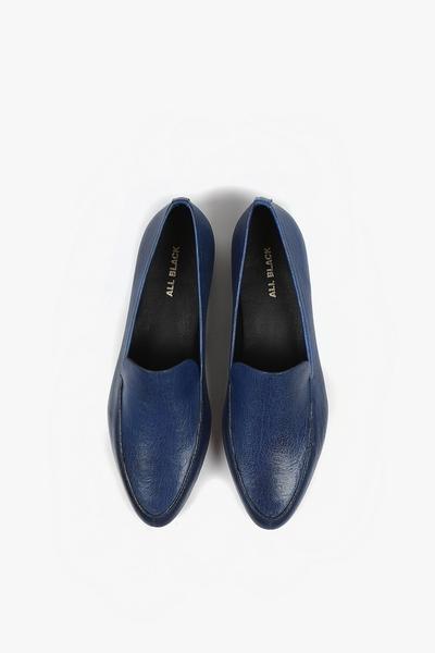 ALL BLACK  尖頭平底鞋  (深藍)