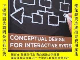 二手書博民逛書店Conceptual罕見Design for Interacti