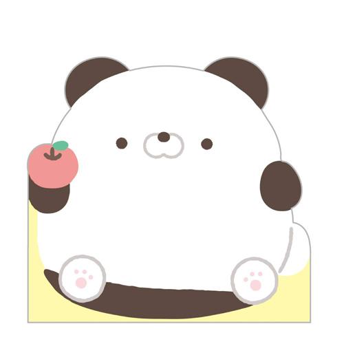 San-X 日本製自黏便箋 造型便利貼 Hamipa熊 生活日常 綠_XS74345