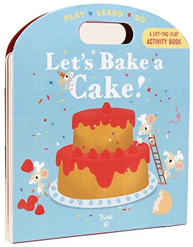 A Lift-The-Flap Activity Book:Let's Bake A Cake! 一起做蛋糕吧! 手提操作書
