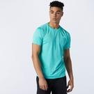 New Balance Tenacity 男裝 短袖 慢跑 Dry 透氣 輕量 藍綠【運動世界】AMT11095SUJ