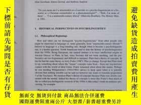 二手書博民逛書店Handbook罕見of Psycholinguistics (