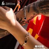 手錬情侶女男一對可刻字韓版潮學生創意個性簡約冷淡風鈦鋼手飾品 陽光好物