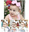 ◎愛寶貝◎C124015韓式兒童髮帶 兒童頭飾 玫瑰珍珠花朵造型蝴蝶結髮帶