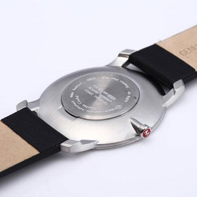 4.1cm薄型藍寶石水晶腕錶-黑 Mondaine 瑞士國鐵錶