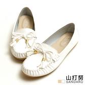 豆豆鞋 軟底蝶結莫卡辛鞋- 山打努SANDARU【2469117#48】
