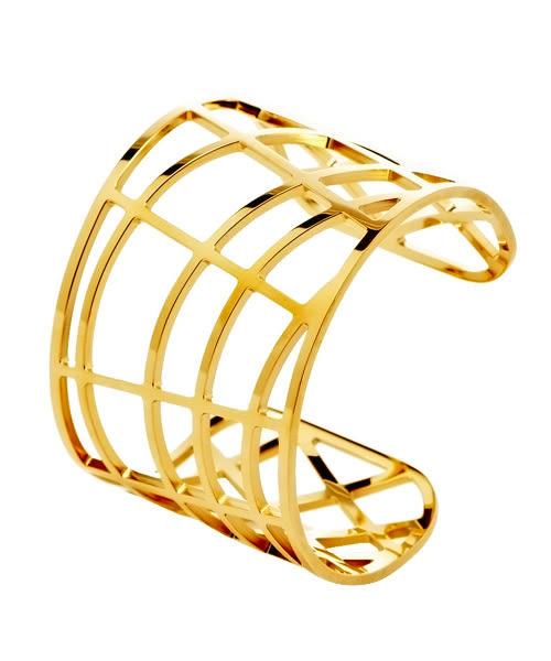 Calvin Klein CK DRAW 優雅金色縷空手環(KJ1TJF1001)