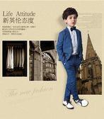 禮服 兒童西裝套裝男童禮服主持人鋼琴婚禮演出服igo 晶彩生活