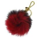 【南紡購物中心】MICHAEL KORS KEY CHARMS毛球造型雙色鑰匙圈-紅