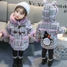 女童秋冬外套 洋氣外套 韓版兒童加絨加厚...