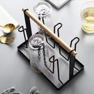 日式鐵藝杯架玻璃杯架簡約家用水杯架置物架掛架杯子瀝水杯架 樂活生活館