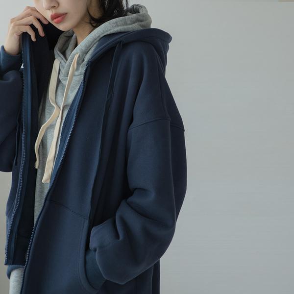 Queen Shop【02020543】質感內刷毛連帽外套 八色售*現+預*