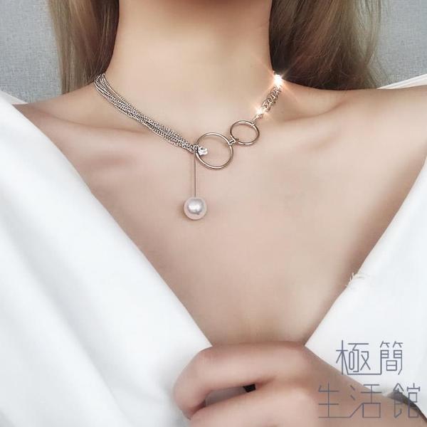 歐美choker鎖骨鍊女短款項鍊頸帶頸鍊飾品【極簡生活】