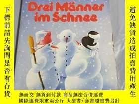 二手書博民逛書店德文原版罕見Drei Manner im SchneeY6856