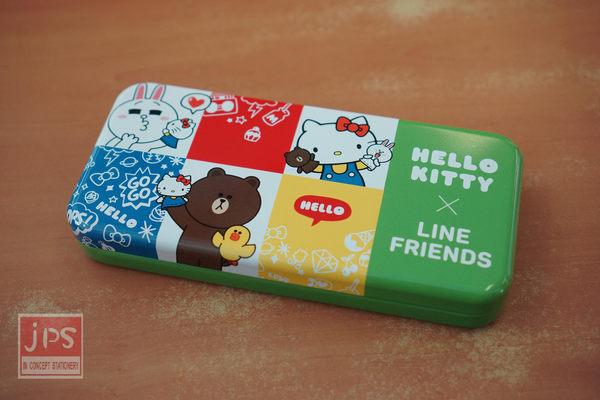 Hello Kitty × LINE 超大雙層鐵筆盒 (熊大綠)
