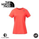 【The North Face 女 排汗短T《珊瑚色》】3F22/排汗衣/短袖