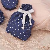 束口袋 愛心波點緞帶束口袋-Ruby s 露比午茶