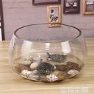 魚缸 魚缸玻璃圓形辦公桌綠蘿水培家用小魚桌面烏龜缸 MKS生活主義