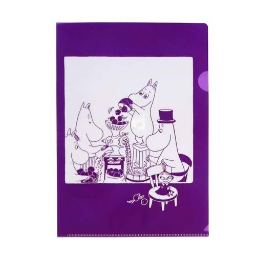 MOOMIN嚕嚕米日本製半透明水果色A4文件夾(藍莓紫)★funbox★Gakken_GK18588