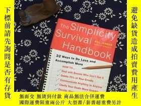 二手書博民逛書店The罕見Simplicity Survival Handboo