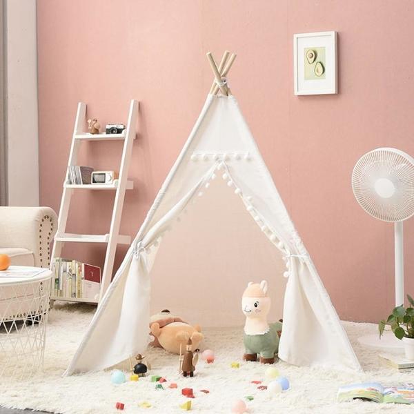 ins兒童帳篷印第安室內游戲屋公主玩具屋小房子寶寶禮物拍照道具 「免運」