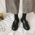 小皮鞋女英倫風2020年流行新款春秋季韓版百搭平底 【快速出貨】