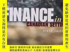 二手書博民逛書店finance罕見in a canadian setting s