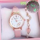 流行女錶 兒童手錶指針式女學生韓版ins風少女學院風可愛初高中糖果色夜光 店慶降價