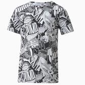 PUMA Alpha 童裝 大童 短袖 休閒 棉質 PUMA圖形 黑 白【運動世界】58126901