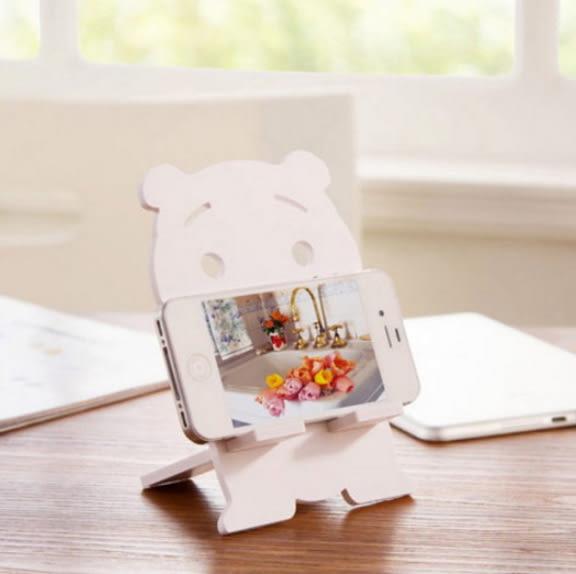[24H 現貨] 手機座 創意 兔子 小熊 貓 懶人手機 支架 diy 桌面 手機架iphone 11 xr xs max 6s 7 plus