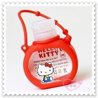 ♥小花花日本精品♥ Hello Kitty 坐姿 造型 紅色 可隨身攜帶 抗菌 37毫升 乾洗手 56872903