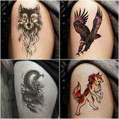 紋身貼紙男女紋身貼防水男持久花臂仿真龍虎刺青身體彩繪紋身 雙12快速出貨八折