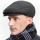 貝雷帽 中老年人帽子英倫男士潮貝雷帽春秋冬季天薄款爸爸休閑老頭鴨舌帽