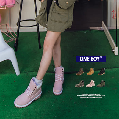 『 One Boy 』【R1102】足下強悍經典復古款休閒高筒靴