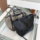 潮女大包包 包包女大容量單肩包2021新款時帆布托特包女通勤牛津布大包【快速出貨八折鉅惠】