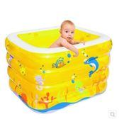 新生嬰兒游泳池家用充氣幼兒童寶寶洗澡桶加厚保溫游泳戲水池浴盆igo  莉卡嚴選