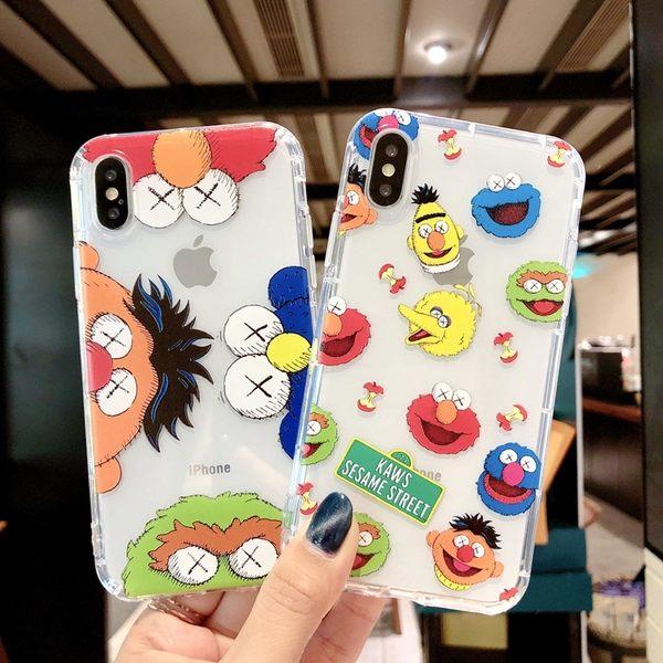 【SZ34】卡通芝麻街氣墊防摔殼 iphone xs 手機殼iphone XR iphone XS MAX手機殼 iphone 8 plus手機殼