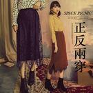 長裙 Space Picnic|現+預.兩穿直坑條蕾絲拼接針織長裙【C18103054】