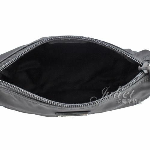 茱麗葉精品 全新精品 PRADA 1NA011 經典三角LOGO尼龍萬用包/化妝包.黑色